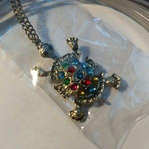 Jewelry - TURTLE NECKLACE - Rhinestone Jewelry - Cute